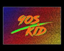 90s Kid Neon Print