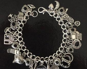 SALE Teen Wolf Charm Bracelet, wolf Bracelet, tv show, fandom, gift