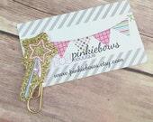 Pink/Gold/Princess Wand/Sparkle Applique Paper Clip/Planner Clip/Journal Marker/Bookmark