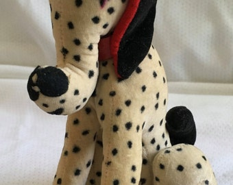 Mid Century Stuffed Velveteen Dog - Dalmatian - Carnival Prize - Excellent Like New Condition