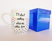 coffee cup funny coffee mug hand painted birthday gift custom personalized cup decorative gift box for her for him cute unique