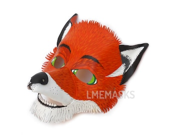 Fantastic Mr. Fox Leather Mask for children kids boys girls and adults Earth Day Gift Halloween Carnival Circus Costume Party