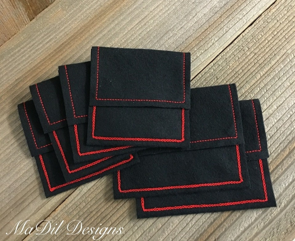 6 anti tarnish cloth jewelry pouch bags red or by madildesigns for Anti tarnish jewelry bags