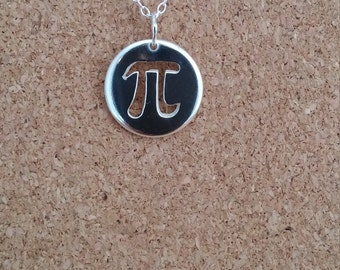 Pi necklace , Teachers gift, Math jewelry, Silver necklace, Pi Necklace, Graduation gift, Geek