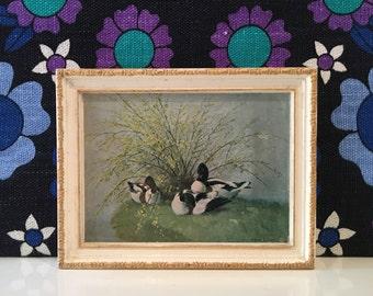 Vintage Vernon Ward Madryn Miniature Duck Chalkware Picture