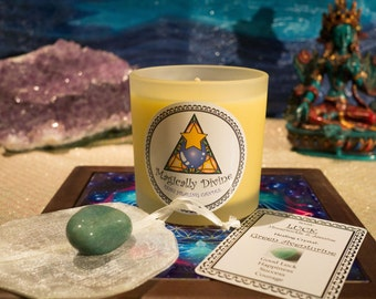 Luck- Reiki Healing Candle & Crystal
