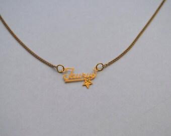 Vintage Charm Taurus Necklace