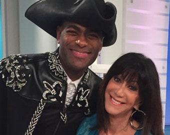 Pirate Tricorn leather hat