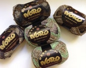50% Off Noro Takeuma Silk Wool Self Striping Green Brown DK Thick Thin
