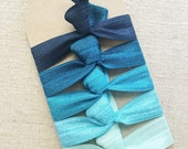 Santorini Ombre - Set of 5 Elastic Hair Ties
