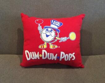 Dum Dum Pop Tshirt Pillow
