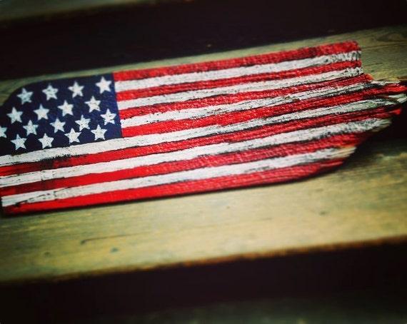 Rustic american flag wood wall art American flag wood wall art