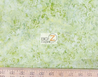 100% Batiks Cotton Fabric By Anthology Fabrics - Gone With The Wind Green - By The Yard Hand Dyed Clothing Decor Licensed (12515) Tie Dye