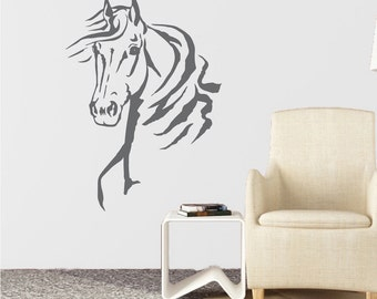 Horse Wall Decal Etsy - Wall decals horses