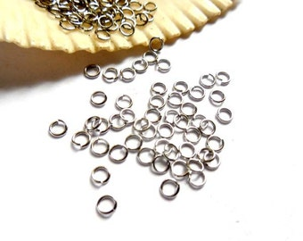100 Stainless Steel Jump Rings 3mm, Open Loop - 9-3-OL