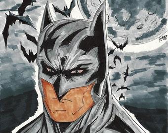 Batman OOAK 11x14