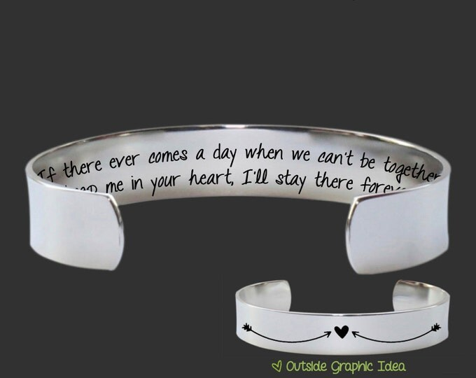Miss You Gift | Going Away Gift | Missing You Gift | Moving Gift | If there ever comes a day... Custom Personalized Bracelet Korena Loves