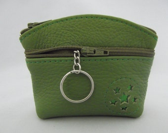 Green Leather Coin Purse.