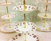 Royal Albert Sweet Violet 3 Tier Cake Stand
