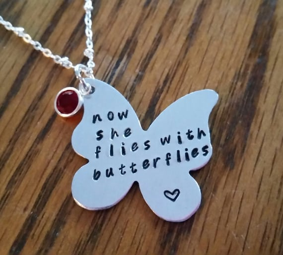 Items Similar To Now She Flies With Butterflies Necklace