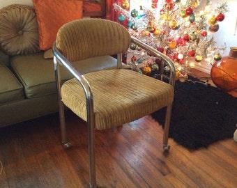 Vintage Mid Century Modern Chromcraft Executive Office Chair Retro chrome #2