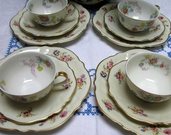 Tea Set for Four, Mix of Theodore Haviland and Rosenthal