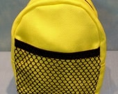 18 Inch Doll Yellow Backpack handmade by Jane Ellen for 18 inch dolls