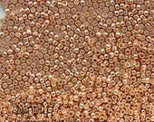 Size 15/0 Toho Seed Beads - 8 or 15 Grams - PermaFinish Galvanized Rose Gold - 2259 - Color # 15-PF551
