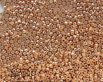 Size 15/0 Toho Seed Beads - 8 Grams - PermaFinish Galvanized Rose Gold - 2259 - Color # 15-PF551