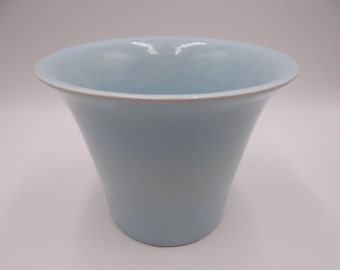 Vintage 1940s Bauer Atlanta Pottery #5 High Fire Spanish Light Blue Flower Pot