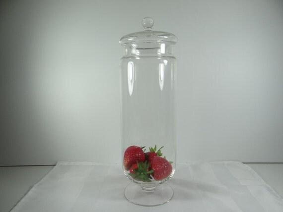 Apothecary Jar with Lid Bathroom Decor Kitchen Decor