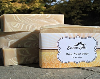 Handmade Soap, Maple Walnut Fudge