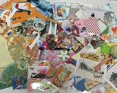 100+ Peice Paper/Embellishment Pack Found Paper Junk Journal Kit
