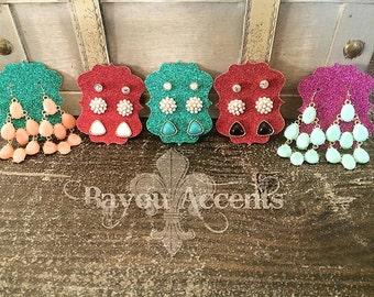 3 Piece Set Stud Earrings