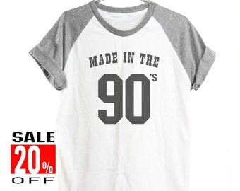 Made in the 90s tshirt women top workout tshirt graphic tee short sleeve shirt men shirt size S M L