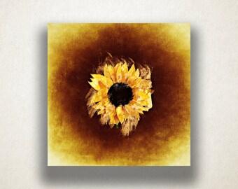 Sunflower Canvas Art Print, Floral Design Wall Art, Yellow Canvas Print, Artistic Wall Art, Canvas Art, Canvas Print, Home Art, Wall Art
