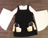 90's Black Jumper Dress Plus Size Goth Clueless Grunge