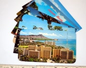 7 vintage HAWAII postcards - unused lot - chrome 3 1/2 x 5 1/2