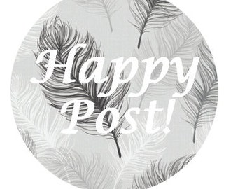 happy post stickers - Feathers