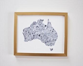 Floral Australia Map