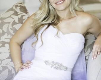Rhinestone Pearl Sash - Wedding Sash - Prom Sash - JERSEY - BRAND NEW