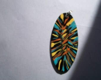 Wooden Pendant, hand painted