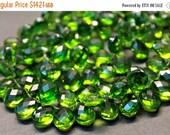 sale AAA Peridot green quartz gemstone briolette- faceted peridot green quartz pear briolette- set of 10 PCs- 13-14 mm No.675