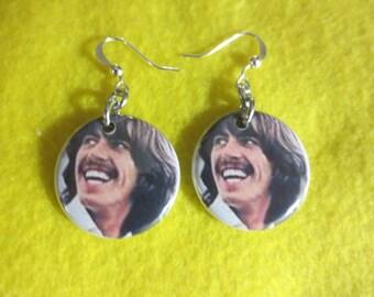 George Harrison dangle earrings
