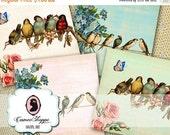 75% OFF SALE ENCHANTED Garden Digital Collage Sheet Coaster Digital Greeting Cards Digital Download
