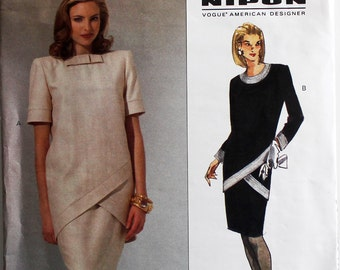Dress by Albert Nipon -1990's- Vogue 1154   Uncut  Size 18-20-22  Bust  40-42-44""