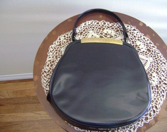 Vintage Crown Lewis Patent Leather Purse