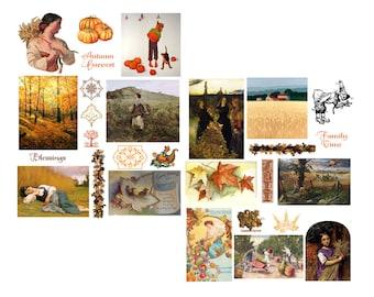 Autumn Magic Digital Collage Set