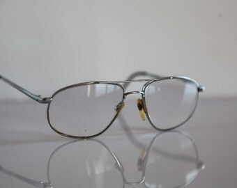 Vintage STOEFFOR eyewear, Chrome Frame, Clear Lenses Rx Prescription . Rare Piece.