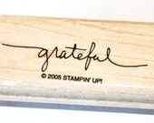 Grateful Rubber Stamp retired from Stampin Up